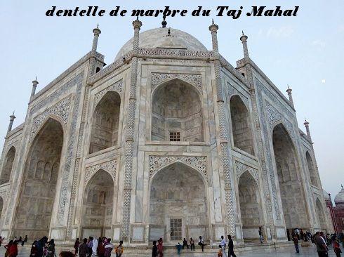 38 dentelle de marbre du Taj Mahal