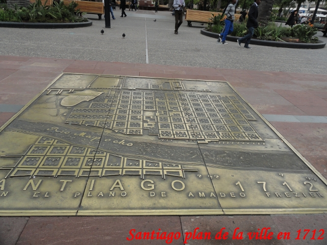 santiago plan ville en 1712