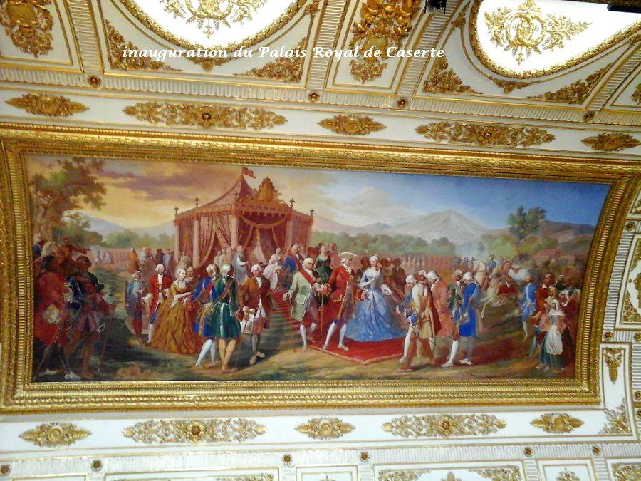 06 plafond inauguration palais royal de Caserte