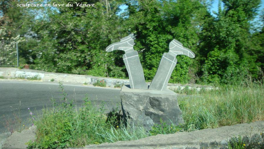 08 Sculpture en lave du Vésuve